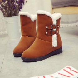 In popular fur snow boots buckle Ms. snow boots low tube snow boots