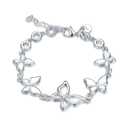 Bracelet silver jewelry decorated with low selling price discounts Europe and the United States market selling jewelry popular butterfly pattern bracelet