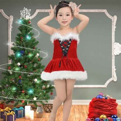 The European and US markets new style dress cosplay Christmas Kids Christmas Costume