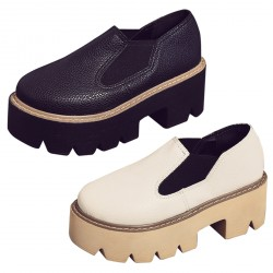 Women's Oxford Thick Soled Wedge Platform Shoes