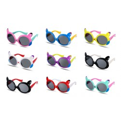 Kid's Sunglass Polarizer Cat Models Sunglass Full-Rim
