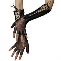 Elbow Length Half Finger Glove Nylon Bridal Gloves/Party/ Evening Gloves
