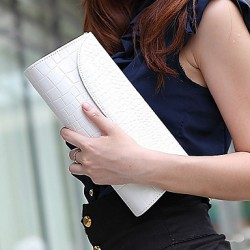 Fashion Crocodile Pattern Simple Clutch