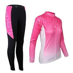 Arsuxeo Women & #039;S Cycling Long Sleeves Jersey (Tops + Pants)