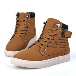 Suede Men & #039;S Flat Heel Round Toe Fashion Sneakers With Lace-Up Shoes (More Colors)