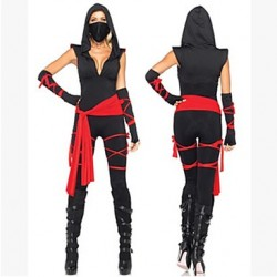 Female Nijia Assassin Cosplay Costumes Top/Shorts/Mask/Belt/Bandage
