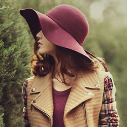 England Bow Wool Blends Floppy Hat