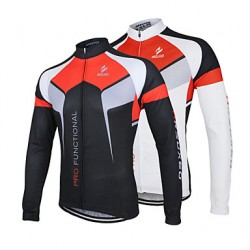 Arsuxeo Men & #039;S Cycling Jersey Breathable Long Sleeve Bicycle Cycling Jersey