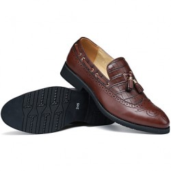 Men & #039;S Shoes Casual Leather Loafers Black/Brown/Burgundy