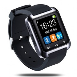 Bluetooth3.0 Camber Surface Smart Watch Pedometer Sleep Monitor Sync Call Message For Android Phone & Iphone