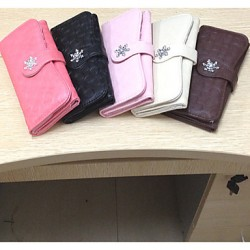 Colorful New Women Long Bag Clutch Wallet Purse Hanger