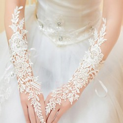 Elbow Length Fingerless Glove Lace Bridal Gloves/Party/ Evening Gloves