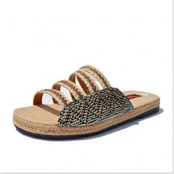 Men & #039;S Shoes Casual Canvas Slippers Blue/Brown