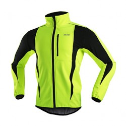 Arsuxeo Men & #039;S Fleece Jacket Warm Winter Thermal Bicycle Cycling Running Windproof Jacket