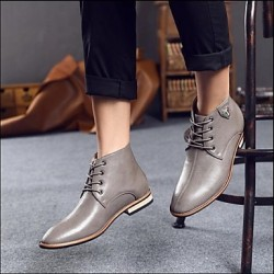 Men & #039;S Shoes Outdoor/Casual Leather Oxfords Black/Brown/Gray