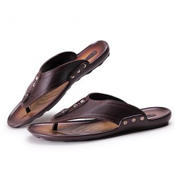 Men & #039;S Shoes Casual Flip-Flops Black/Brown