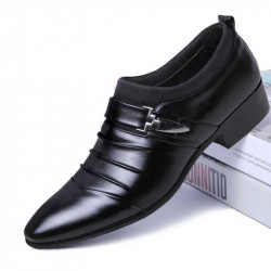 Men's Fashion Flats Party Leather Business Shoes