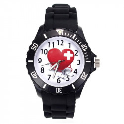 Women's Silicone Band Sport Wrist Watch