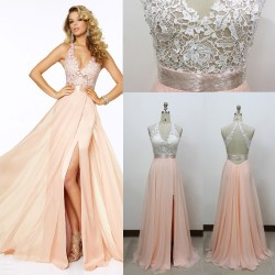 2015 new sexy halter hand-beaded toast clothing long section of elegant evening dress bridesmaid dress was thin clothing chaired