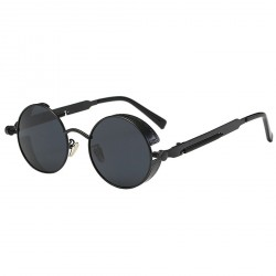 2671 retro sunglasses round carved women men reflective sunglasses