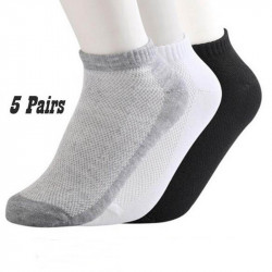 10pcs Unisex Breathable Stretch Solid Color Socks
