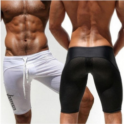 Men Outdoor Sport Running Shorts Athletic Tight Shorts Casual Leisure Summer Fitted Gym Workout Short