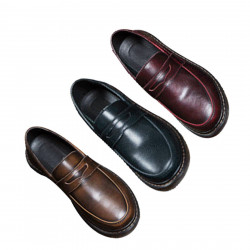 Classic Retro Soft Oxfords Business Shoes for Men