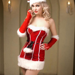 Santa Claus Cosplay Costume for Christmas Party Fancy