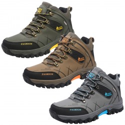 Men's Lined Waterproof Hiking Boot Cold Winter Shoes
