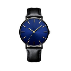 Men's Ultra Thin Luxury Leather Casual Quartz Watches