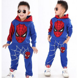 2017 New Retail Spiderman Kids Clothing Sets Children Fashion Cartoon Summer Shirt + Pants Boys Tees Pants Suit