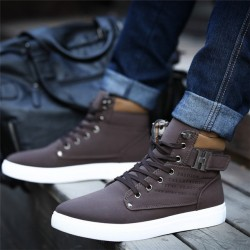 1Pair Men Shoes Winter Warm High Men & #39;S Casual Canvas Shoes Fashion Boots Street Shoes Bz871485