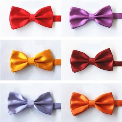 2017 Popular Solid Bow Tie Mens Butterfly Cravat Bowtie Male Solid Color Marriage Bow Ties For Men Free Shipping