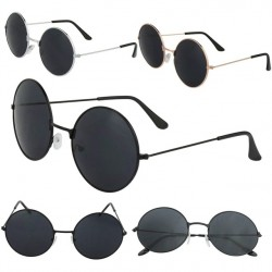 2017 Fashion New Vintage Women Men Retro Style Round Glasses SteamPUnk Sunglasses Metal Frame Summer Style A1