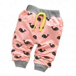 2017 Spring Baby Pants Boy Candy Colors Cartoon Cotton Autumn Pants Boy Fashion Harem Children Pants 7-24 Month