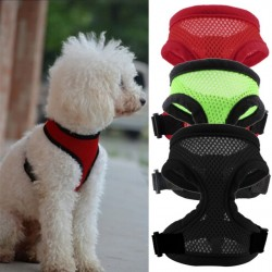 3 Colors Nylon Pet Mesh Dog Harness Strap Vest Collar For Small Medium-Sized Dog Leads Puppy Comfort Harness Cloth For Dog Pet