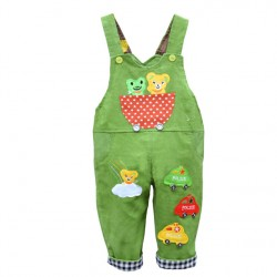 Baby Boy Overall Jumpsuit Toddler Clothing Pants Bodysuit Girls Corduroy Cotton Thick Autumn Outerwear Cars Panda Cartoon 1049