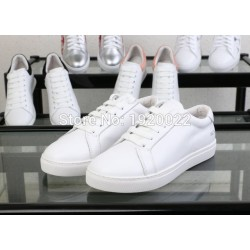 2017 Women Popular Sale Real Leather Casual Shoes Common P Women Leisure Flats Skate Shoes