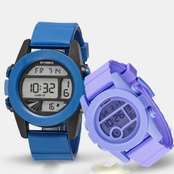 A popular rapid sales promotions soft silicone material waterproof swim broadband luminous watches students watches couple