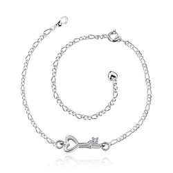 Creative key modeling anklets silver jewelry low price discounts and low price promotion A024