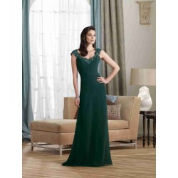 Clothing evening dress shoulder on both sides of the European market and the US market aristocratic young mother party dress Lace waist sequined evening gown