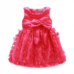 Fast delivery low price children's clothing girls dress beautiful flower clusters full dress tricolor flower princess dress Promotions