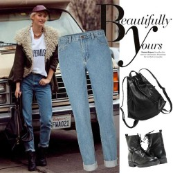 Autumn and winter new models in Europe station ladies pants European market and the US market XL fashion denim slacks straight jeans