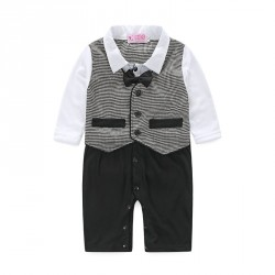 Boys selling long-sleeved gentleman jumpsuit discount fast shipping promotion hot selling children's clothing prices low