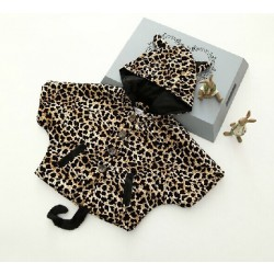 Promotional low price hot sales children's clothing for boys and girls Christmas Halloween leopard print pattern cape discounts
