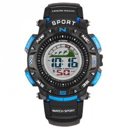The latest popular youth sports electronic watches men's watches waterproof multi-function rapid sales promotion