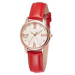 Popular ladies watches leather belt quartz watch fashion waterproof material leather diamond fashion watch trends