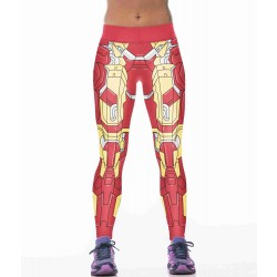 Europe and the United States market new personalized style robot prints tight pants bottoming super-elastic yoga pants personality