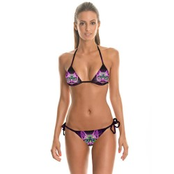 Hot sales 3D Star cat prints Sexy Bikini Beach Swimwear Set personalized mini quick sale
