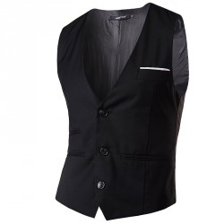 Low price good quality men's single-breasted multicolor Europe and the US market, British casual Slim vest vest